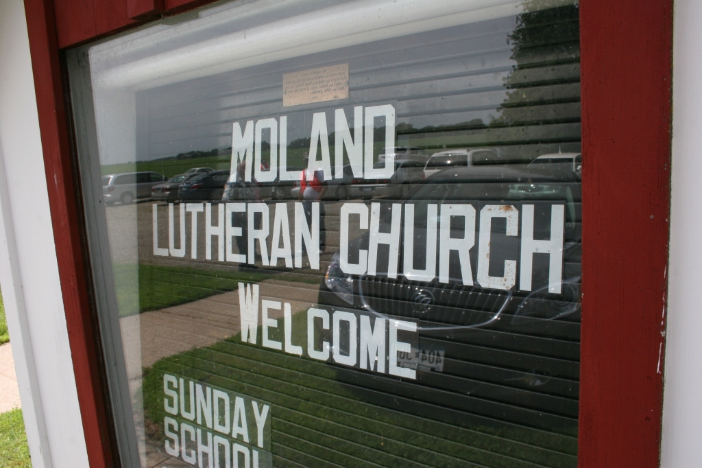 Worship service is at 9 a.m. on Sunday.