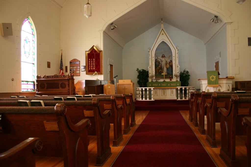 Fine craftsmanship defines the sanctuary.