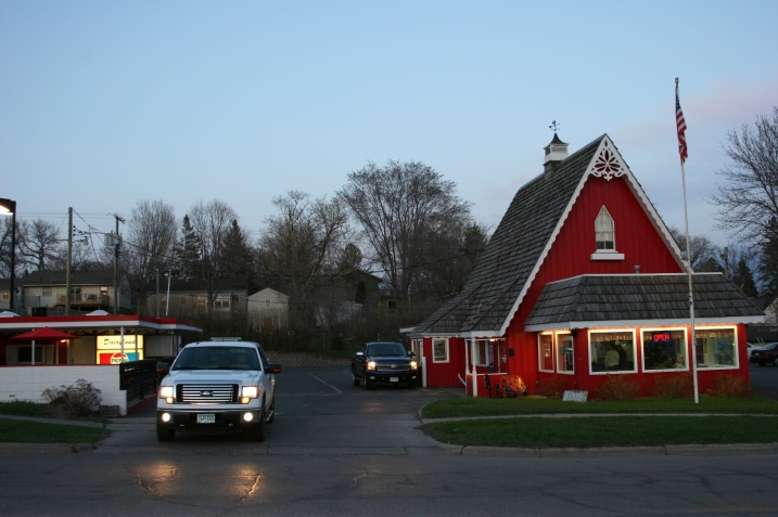 The seasonal Dairyland Drive In opened in 1955.