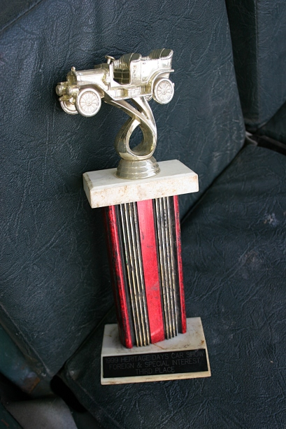 A 1999 Faribault Heritage Days car show trophy awarded