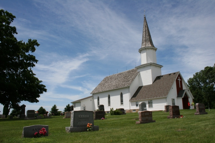 Moland Lutheran Church southwest of Kenyon.