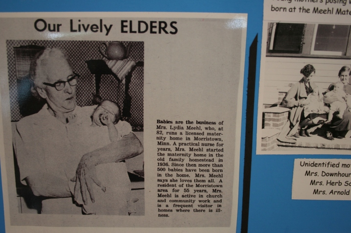 Mrs. Lydia Meehl, who helped so many Morristown area women birth their babies.