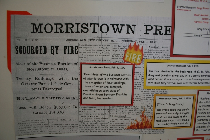News stories about the devastating 1900 fire.