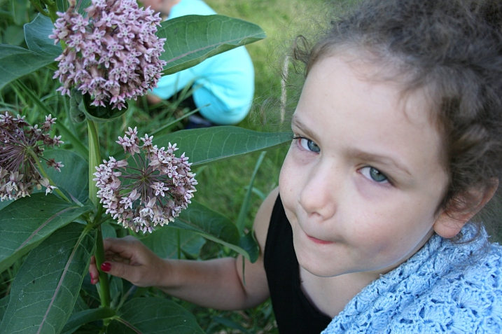 Sweet little Lucy, who narrated on the nature walk and later read a book to me. She just finished kindergarten.