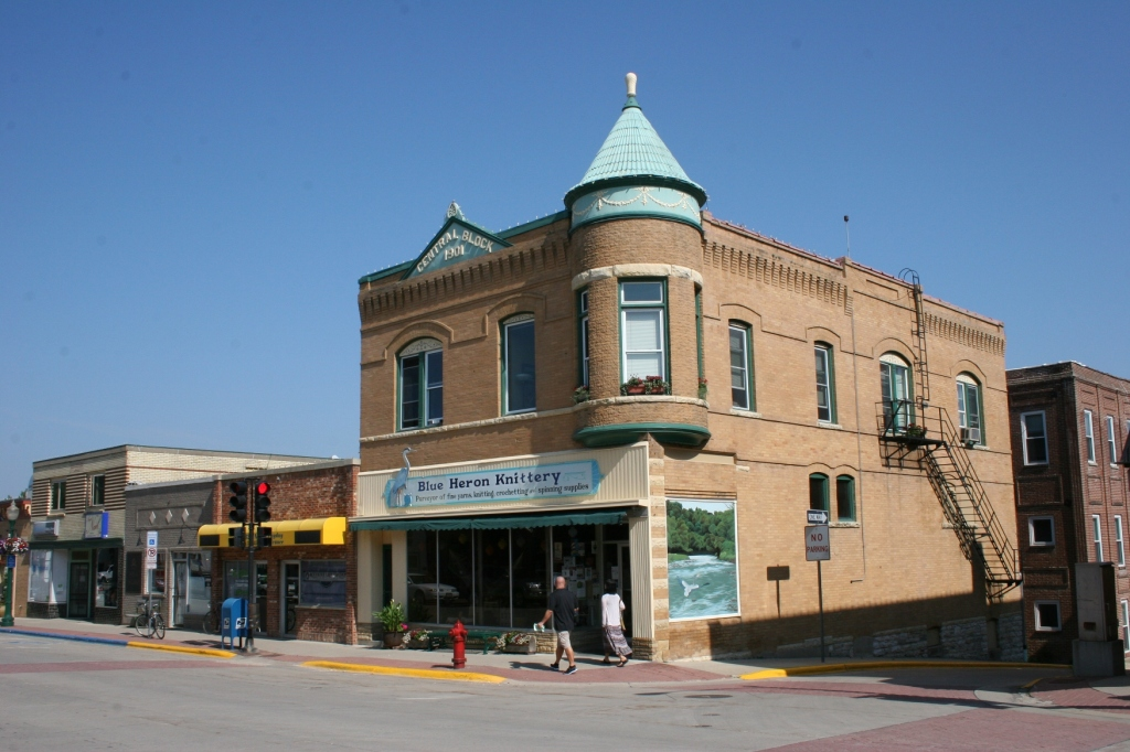 The Blue Heron Knittery is housed in this historic building.