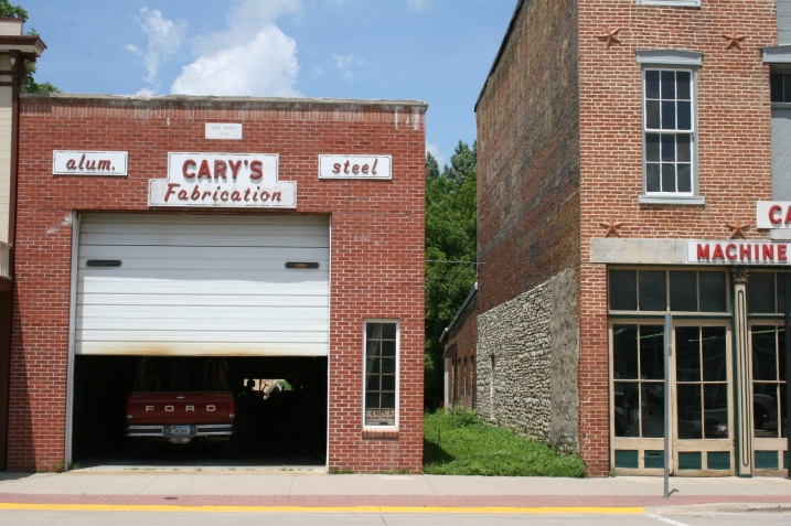 A building needn't be ornate to impress. I love the strong simple lines of Cary's Fabrication.