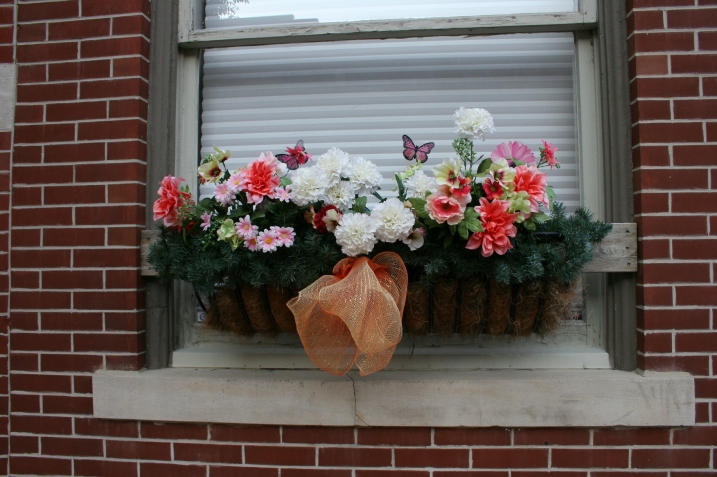 Windowboxes abound.