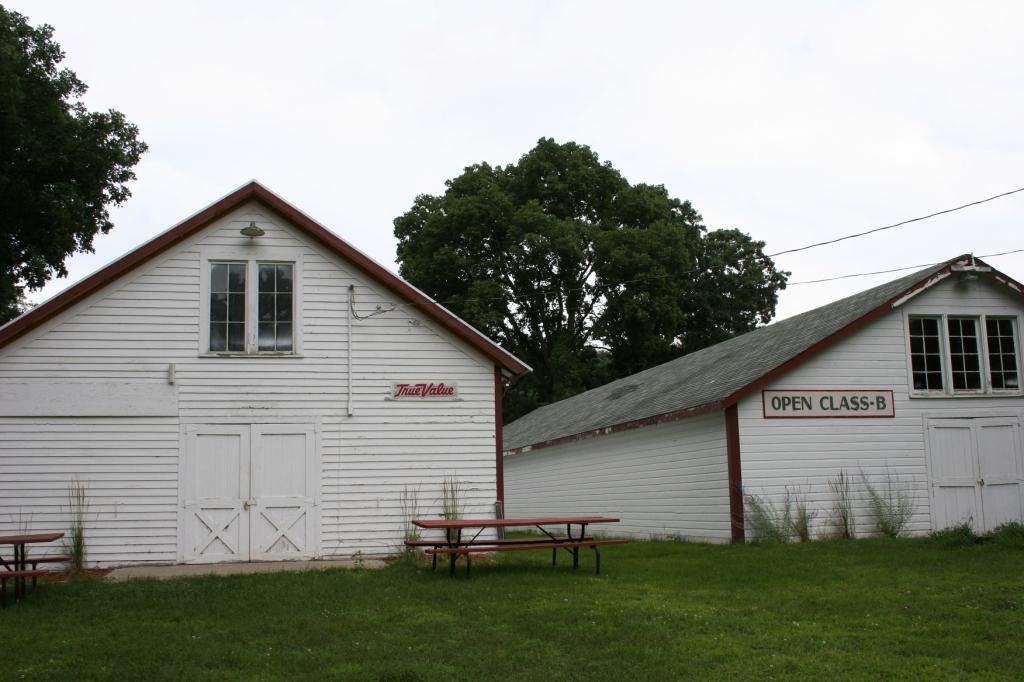 The open class exhibit buildings.
