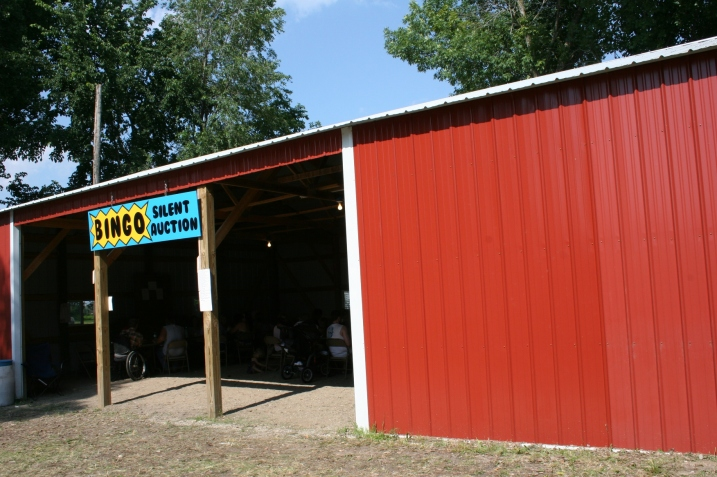 One pole shed is dedicated to bingo.