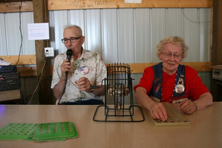 The bingo callers.