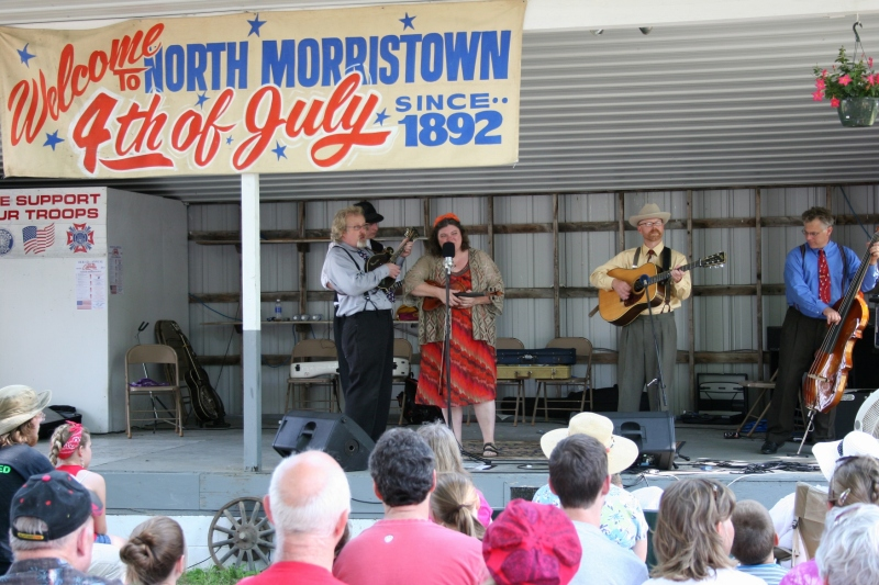 The bluegrass band, Monroe Crossing, has performed at North Morristown the past seven years, presenting two concerts at the celebration.