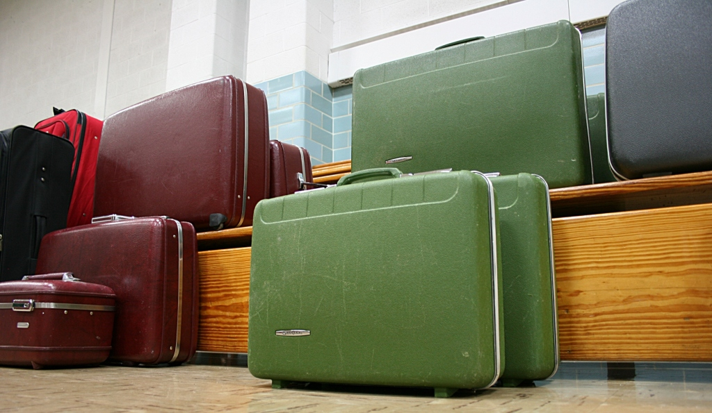 There are plenty of hard-sided suitcases for sale and a few soft-sided also.