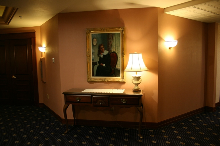 An inviting scene in a hallway of the hotel.
