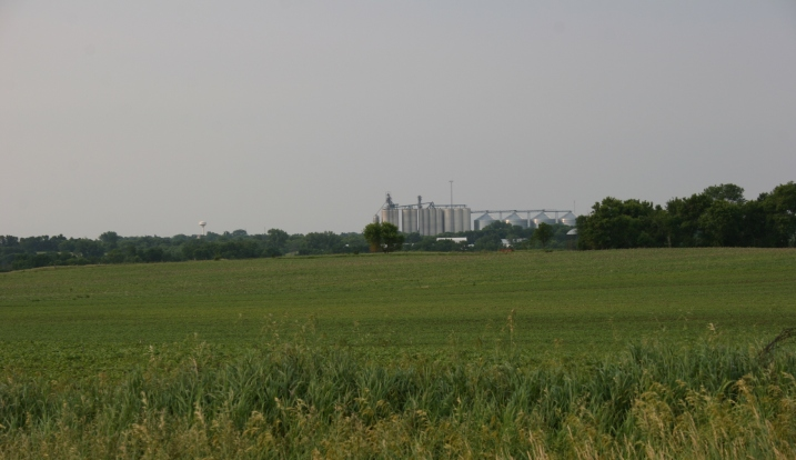 A view of Lamberton, Minnesota, just to the south of my brother's rural acreage.