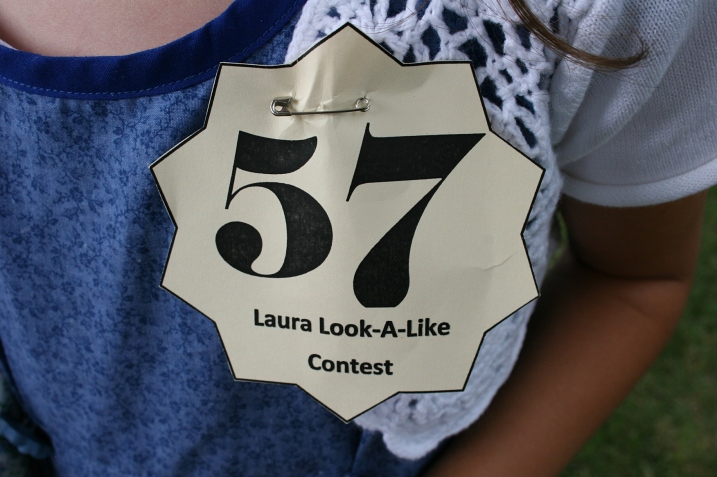 My niece's entry number. No, there were not 57 contestants. This is just the identifying number tag she was handed after I paid a $5 entry free and she registered.
