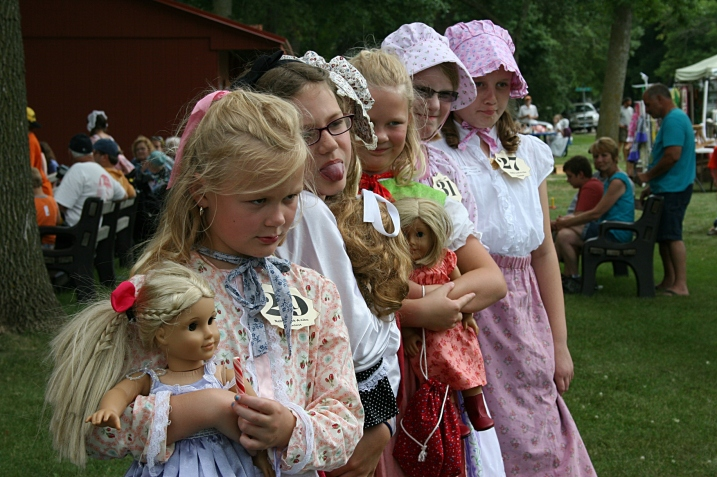 Far fewer girls competed in the Nellie Oleson Look-A-Like contest. Clearly, few want to role play the mean Nellie. But look how these girls played the haughty role to the hilt.
