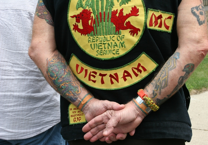 Many Vietnam veterans attended the ceremony.