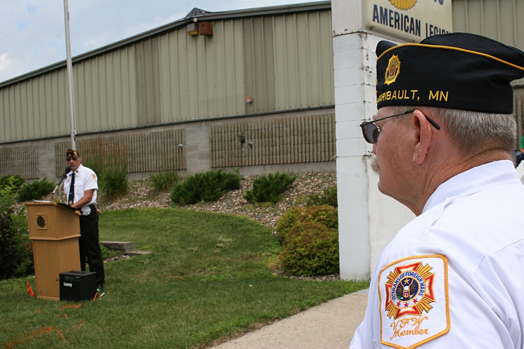 American Legion Post Commander Kirk Mansfield led the ceremony and read the names of the deceased.