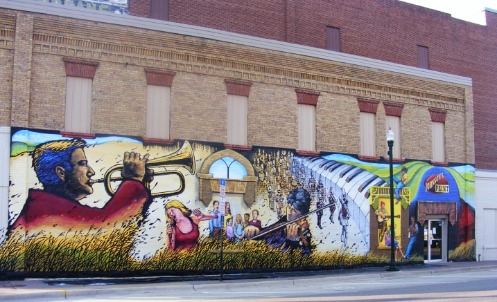 Greg Wimmer painted this mural in nearby Marshall. Photo courtesy of Greg Wimmer.