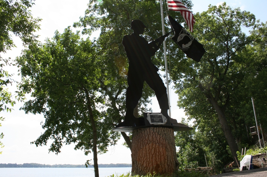 """The """"American Joe"""" memorial was crafted by metal artist Kirk Mansfield, who """"sits at a computer all day"""" in his professional career,"""