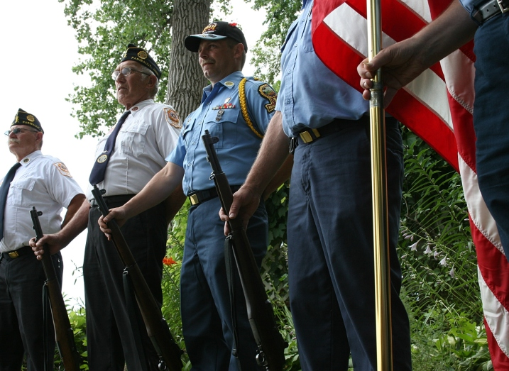 Veterans participate in the program.