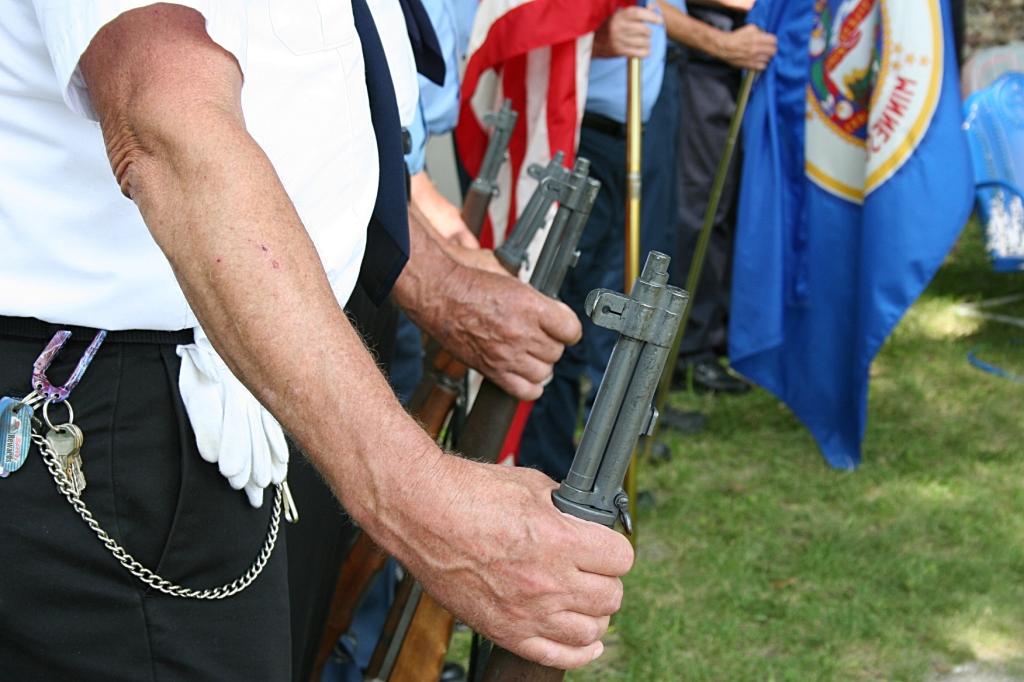 Hands on guns.