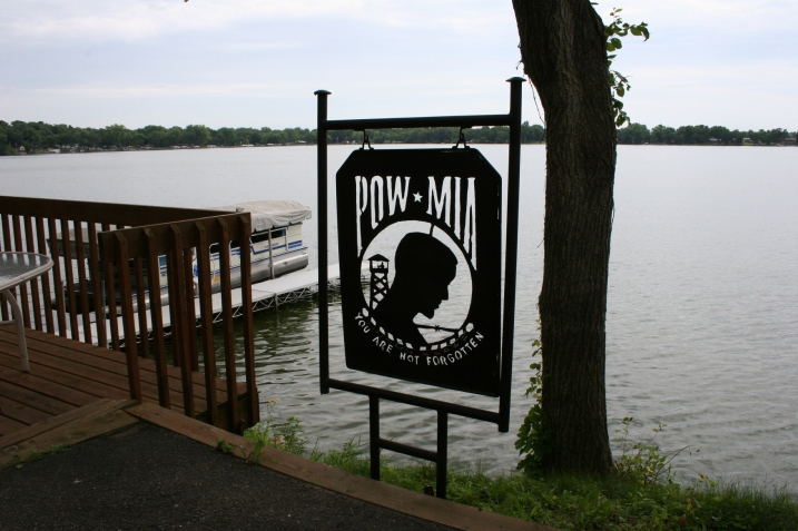 The POW/MIA memorial on Jim Williams' lakeshore.