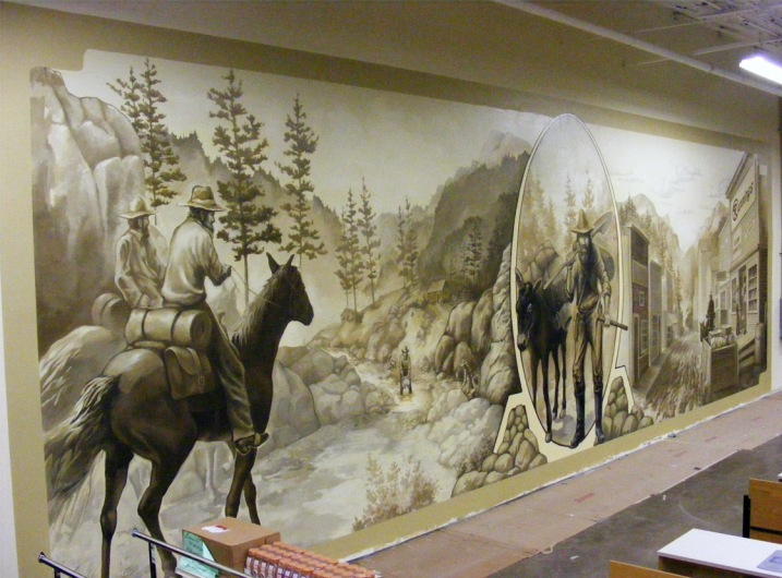 And Wimmer painted this mural in Rapid City, South Dakota. Photo courtesy of Greg Wimmer.