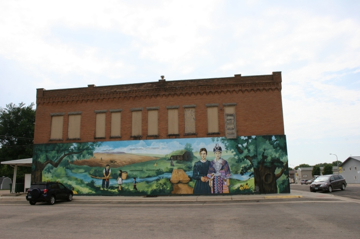 Rochester artist Greg Wimmer was commissioned to paint this mural last summer in downtown Walnut Grove.