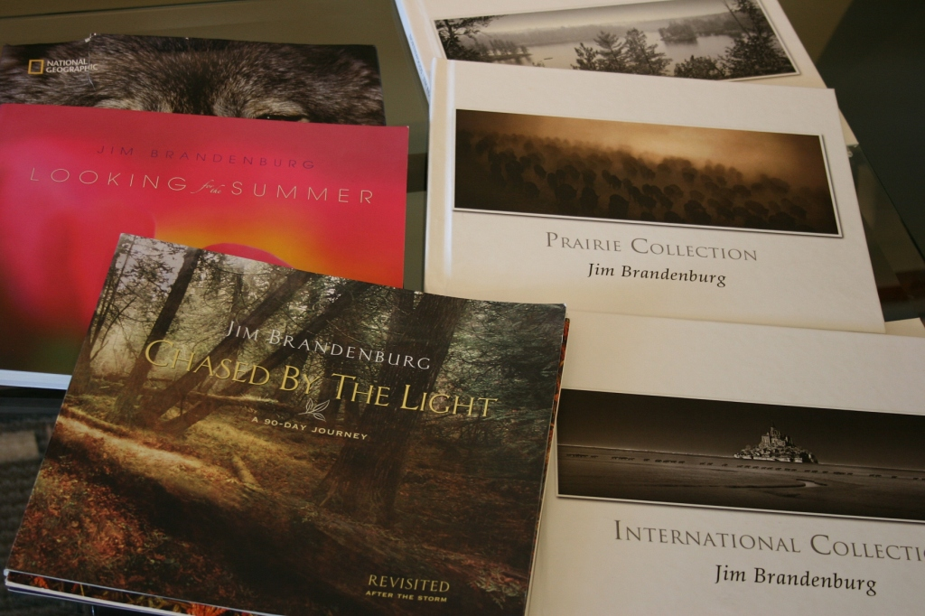 Some of Brandenburg's photo books.