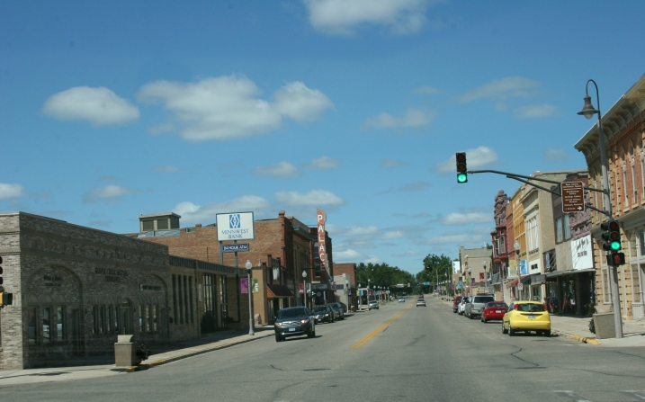 Downtown Luverne, Minnesota.