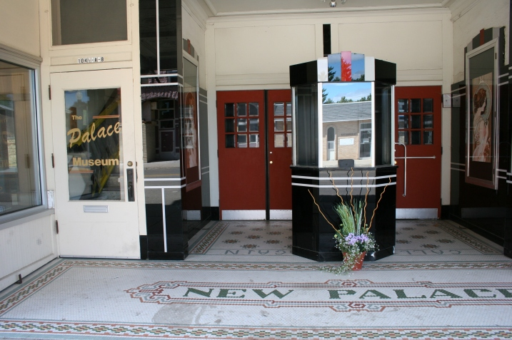 The entry to the historic Palace Theatre in downtown Luverne, Minnesota.