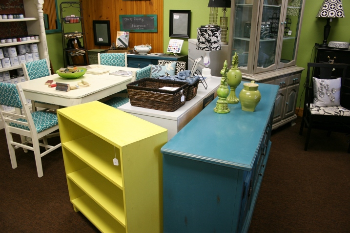 The yellow shelving unit can be yours for $88.