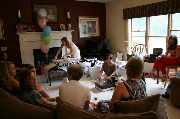 Guests filled the living room and spilled into the dining room for my daughter's Saturday afternoon bridal shower.