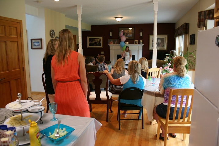 The wonderful family and friends who gathered at my sister-in-law Joanne's house for the bridal shower.