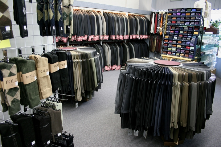 A snippet of the fine clothing at St. Clair's.