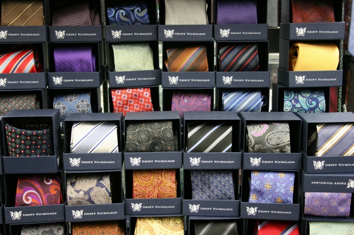 A small sampling of the ties sold at St. Clair's.