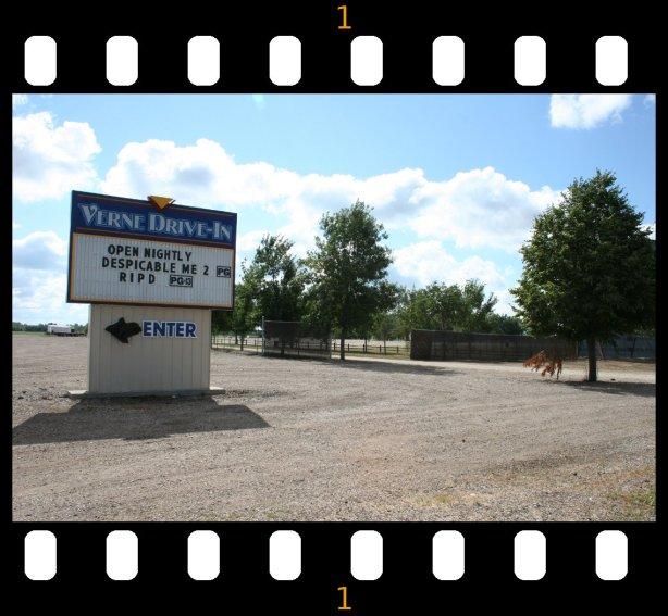 Verne Drive-in entry sign