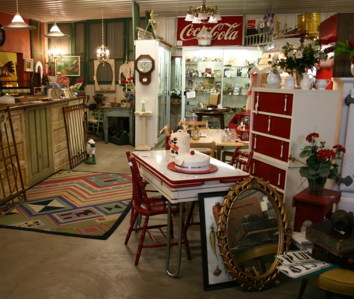 Inside Pond Road Antiques.