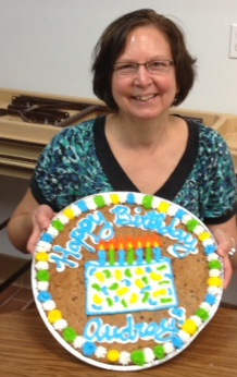 Me with my personalized birthday treat. Photo by Eric Schmidt.