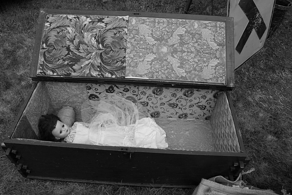 A child's coffin.