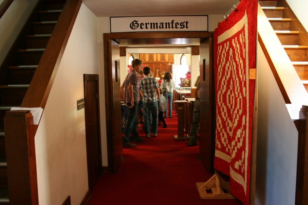 One of the major components of Germanfest is the fabulous quilt show inside the sanctuary.