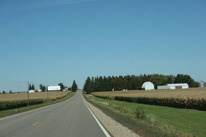 Driving U.S. Highway 14 back to Faribault Sunday morning.