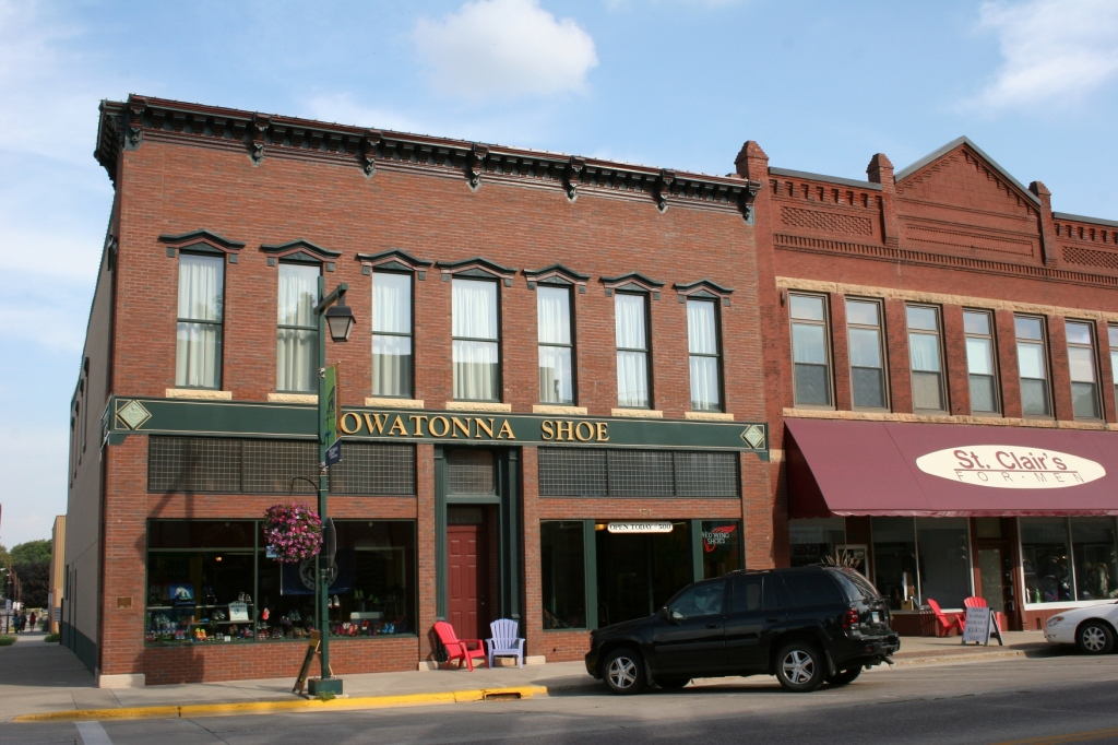 Owatonna Shoe is located to another long-time local business, St. Clair's for Men in the heart of downtown Owatonna.