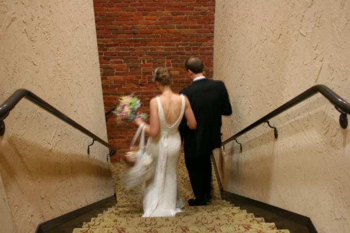 The celebration ended shortly after the couple left at 9:30 p.m.