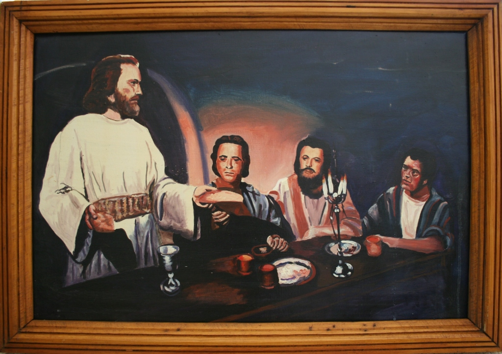 """""""Breaking Bread,"""" an original painting by well-known Faribault artist Rhody Yule, will be sold during the live auction."""
