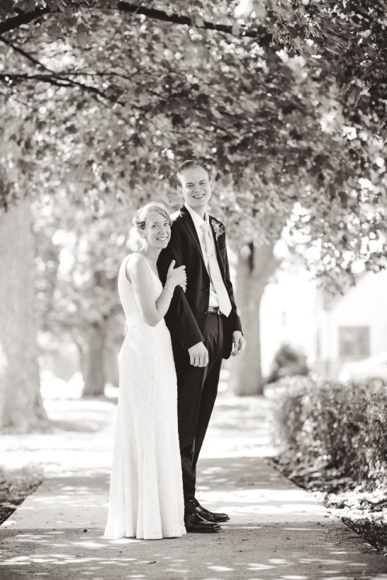 Mr. and Mrs. Schmidt are absolutely, incredibly, in love. Photo by Rochelle Louise Photography.