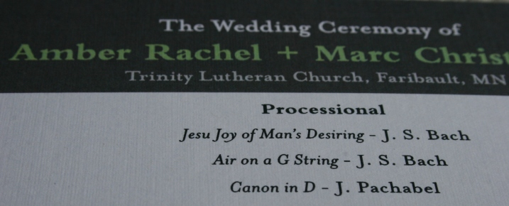 Wedding programs are printed.