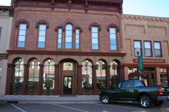 The Bachrach Building in downtown Faribault was beautifully restored several years ago to its original appearance. The Loft space is on the second floor in the back half of the building.