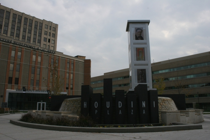 The recently revamped Houdini Plaza, a central gathering spot in downtown Appleton that features summer concerts, etc.